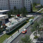 Neue Straßenbahntrasse in Magdeburg
