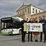 ÜSTRA stellt Busnetz auf Elektromobilität um