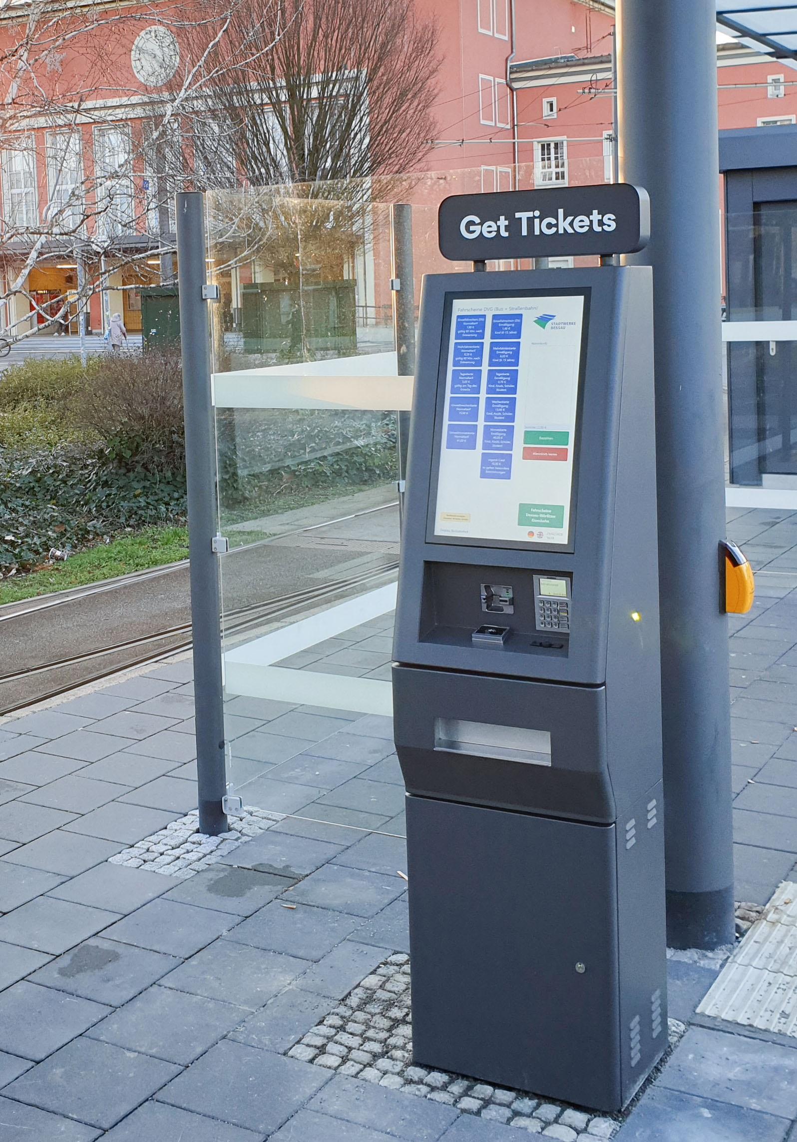 Dessauer Verkehrs GmbH startet mit bargeldlosen Automaten