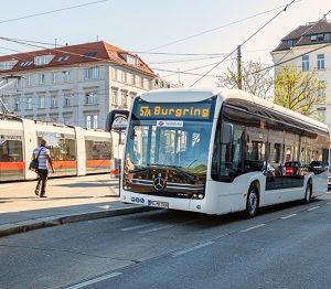 eCitaro von Mercedes-Benz im Probebetrieb in Wien