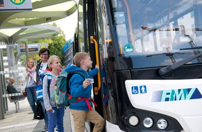 Einstieg in Bus