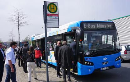 Elektrobus in Münster