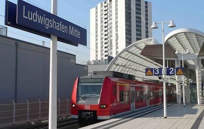 S-Bahn in Ludwigshafen Mitte