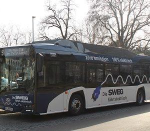 Solaris Urbino 12 electric in Lörrach