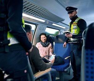 DB Sicherheit - Fahrkartenprüfdienst durch Präsenz- und Präventionsstreife