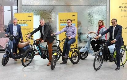 Rydies und ADAC E-Bikes und E-Motorroller