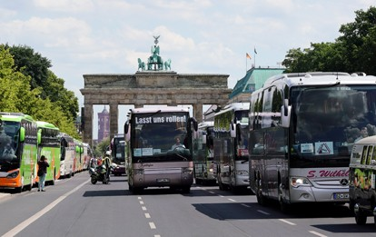 Busdemo in Berlin