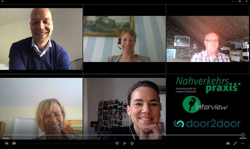 Online-Interview Nahverkehrs-praxis & door2door