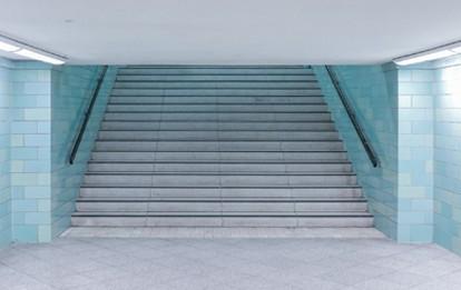 Treppe im Bahnhof