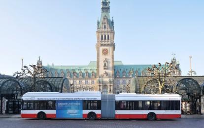 Brennstoffzellenbus der HOCHBAHN