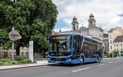 MAN-Fahrzeugtest in Linz