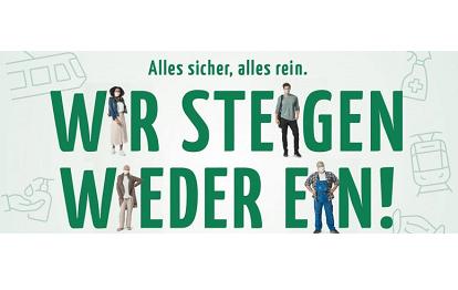"""Österreich Kampagne """"Alles sicher, alles rein. Wir steigen wieder ein!"""""""