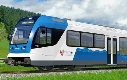 Wasserstoff-Zug der Zillertalbahn
