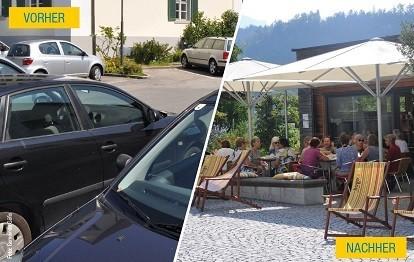 Ortszentrum Göfis / Vorarlberg Vorher und Nachher