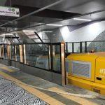 Neuschienenbearbeitung auf Sofias neuer Metrostrecke