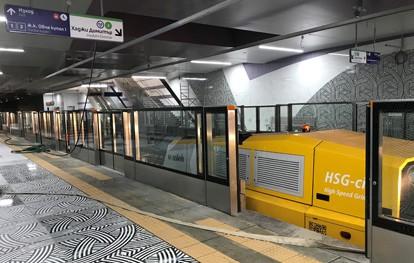 Schienenschleifen in Sofias U-Bahn