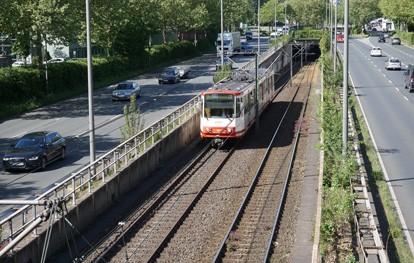 Stadtbahn in Dortmund