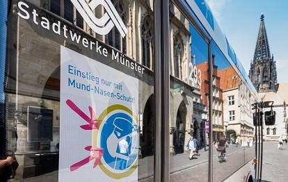 Die Corona-Pandemie sorgt für weniger Fahrgäste im Bus. Bund und Land erstatten dem Busverkehr in Münster nun Verluste in Höhe von über fünf Mio Euro.