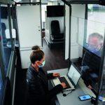 Setra Überlandbus als mobile COVID-19-Teststation