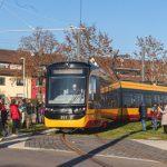 Karlsruhe: Neue Tramstrecke in Knielingen