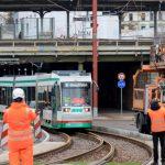 Neue Straßenbahnstrecke in Magdeburg im Betrieb