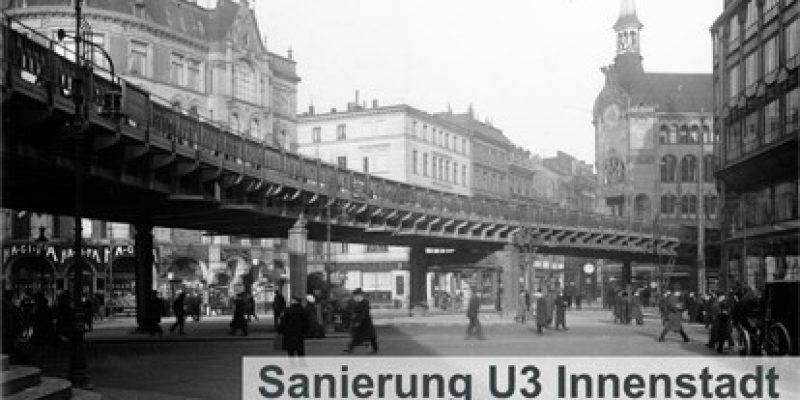Anfang Februar beginnt die Sanierung der historischen U3-Strecke zwischen Rödingsmarkt und Mönckebergstraße in Hamburg.