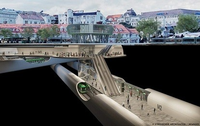 Visualisierung Metrostation in Graz (Bild: Copyright: Strohecker Architekten/Newages)
