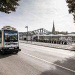Autonome Shuttles am Frankfurter Mainkai