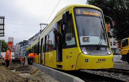 Umbau Haltestelle Landgericht (Bild: Ruhrbahn)