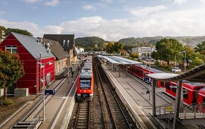 Oberbergische Bahn, Bahnhof Overath (Bild: NVR / Smilla Dankert)