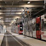 Neue Stadtbahn-Abstellanlage der KVB