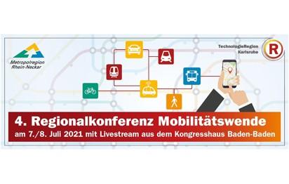 """Über """"Neue Konzepte und Lösungen nach Corona"""" sprechen Experten am 7. und 8. Juli 2021 in der virtuellen Ausgabe der Regionalkonferenz Mobilitätswende, einem gemeinsamen Event von TechnologieRegion Karlsruhe (TRK) und Metropolregion Rhein-Neckar (MRN)."""