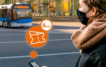 """Die 6er-Mehrfahrten-Karten für den Verkehrsverbund Region Braunschweig können ab sofort in der App """"VRB-Fahrinfo & Tickets"""" gekauft werden. Seit dem 1. Januar gibt es die 6er-Mehrfahrtenkarten im Ticket-Angebot des VRB."""