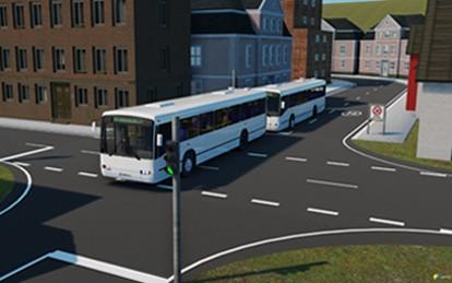 Forschende des Karlsruher Instituts für Technologie (KIT) arbeiten an einem Stadtbus-Platoon für München.