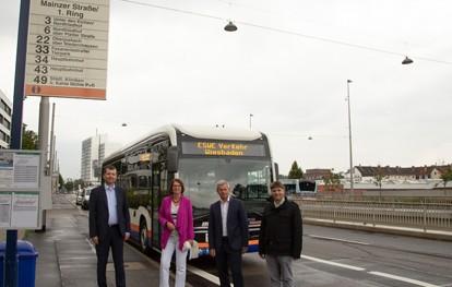 Um den Busverkehr in der Landeshauptstadt Wiesbaden attraktiver zu gestalten, wurde auf der Mainzer Straße stadteinwärts die Busspur verlängert. Sie liegt auf dem Abschnitt zwischen Gartenfeldstraße und Gustav-Stresemann-Ring.