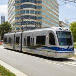 Batterie Hybridstraßenbahnen für Charlotte im Fahrgastbetrieb